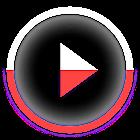 Skin for Poweramp v2 KK Red icon