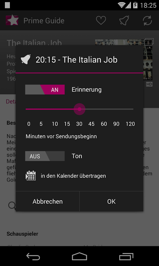 Prime Guide TV Programm - screenshot