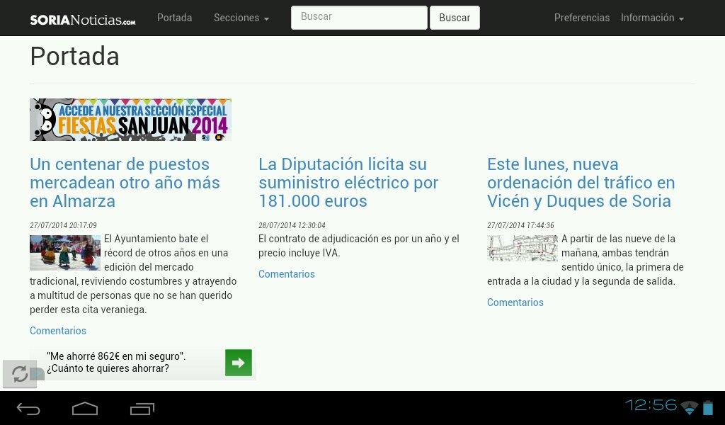 Soria Noticias-Diario Digital- screenshot