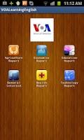 Screenshot of Learning English via VOA