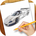 Learn to Draw Super Cars APK for Bluestacks