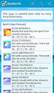 Weather HK Hong Kong & Widget screenshot 3