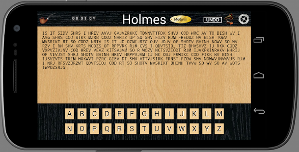 Holmes Cryptic Cipher Puzzle- screenshot thumbnail