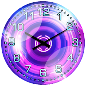 Cool Pink Neon Widget Clock!