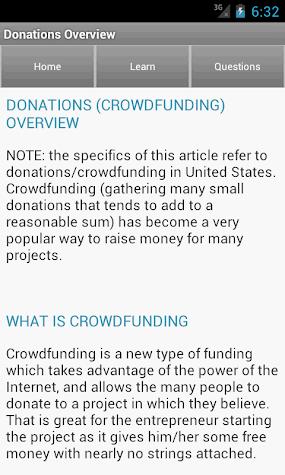 Funding & Fundraising Ideas Screenshot