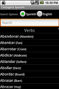 Conjugate Spanish Verbs - screenshot thumbnail