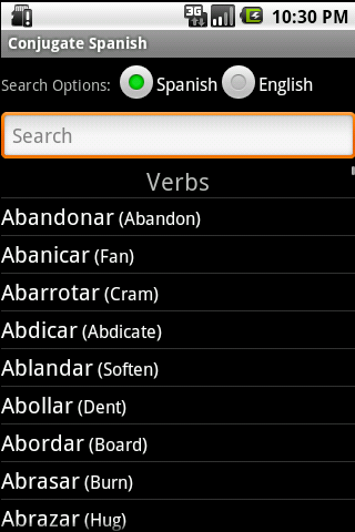 Conjugate Spanish Verbs - screenshot