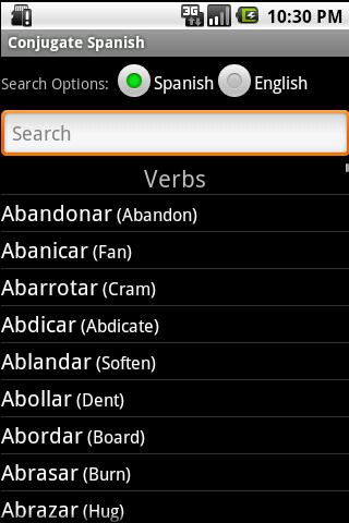 Conjugate Spanish Verbs - screenshot
