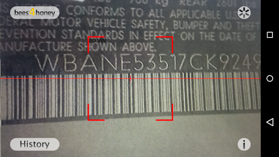 VIN Barcode Scanner- screenshot thumbnail
