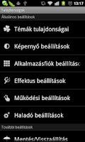 Screenshot of GO LauncherEX Hungarian langua