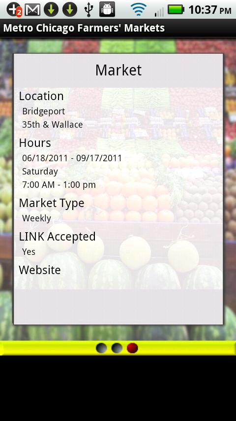 Metro Chicago Farmers Markets- screenshot