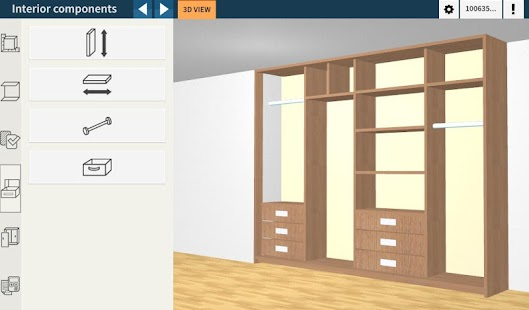 Utile closet pro 3d designer android apps on google play for 3d wardrobe planner