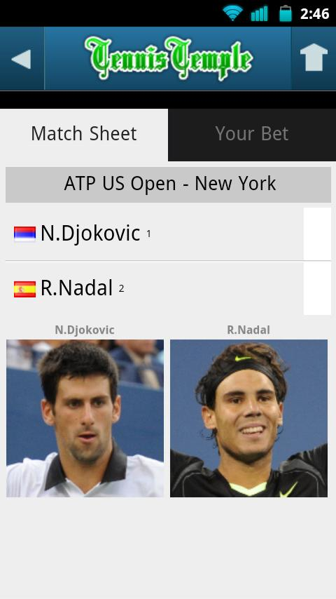 Tennis Live scores - screenshot