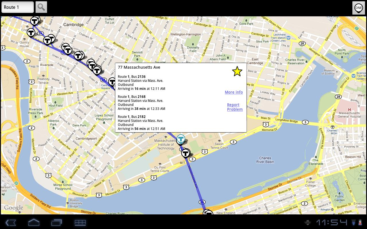 BostonBusMap - screenshot