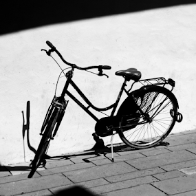 5 things by Renato Dibelčar - Black & White Street & Candid ( canon, fahrrad, window, yard, shadow, outdoor, wall, fenster, bicycle, sx50hs )