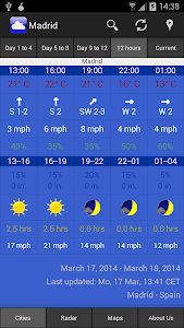 WeatherOnline Weather screenshot 1