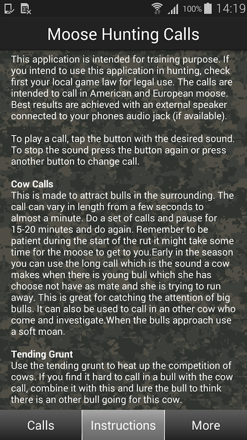 Moose Hunting Calls- screenshot