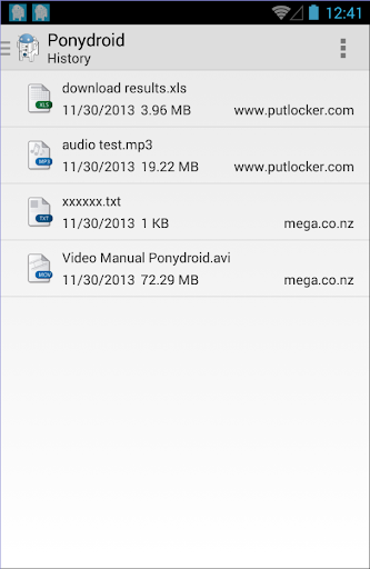 Ponydroid Download Manager  screenshots 6