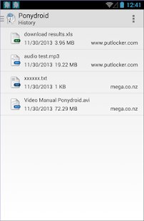 Ponydroid Download Manager - screenshot thumbnail