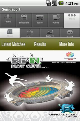 Icc World Cup 2011- screenshot