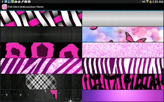 Screenshot of Pink Zebra Starry icon pack