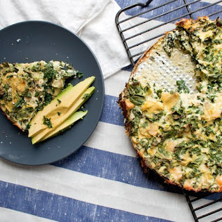 Artichoke, Kale & Ricotta Pie.