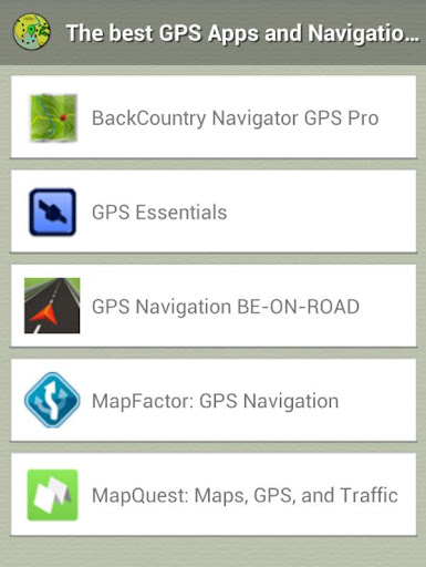 GPS Navigator Guide