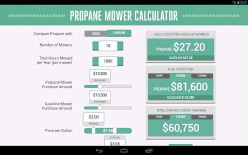 Propane Mower Calculator- screenshot thumbnail
