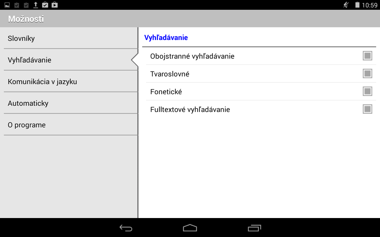 English-Slovak Dictionary Plus- screenshot