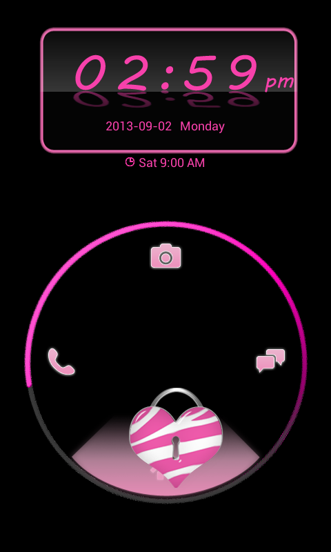 Pink Zebra Theme 4 GO Locker - screenshot