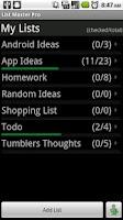 Screenshot of List Master