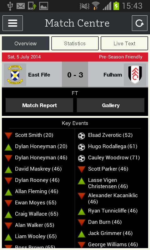 Fulham FC - screenshot