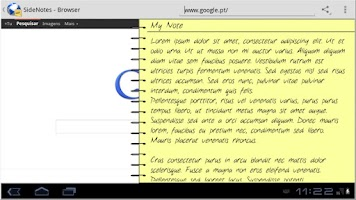 Screenshot of SideNotes - Browser