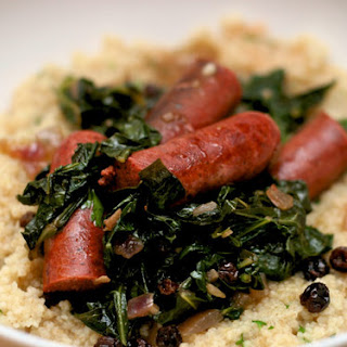 Merguez Sausage with Collards and Couscous