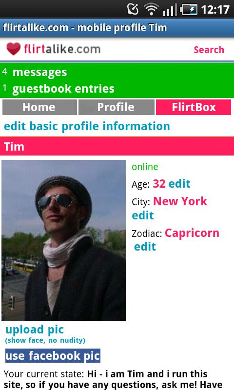 Flirtalike - FREE flirt dating - screenshot