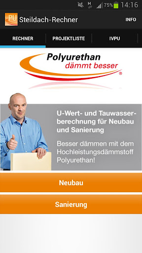 PU Steildach-App