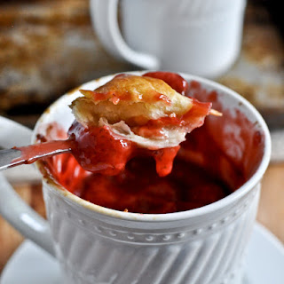 Strawberry Mug Pies