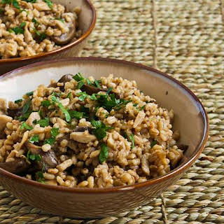 Barley with Dried and Fresh Mushrooms.