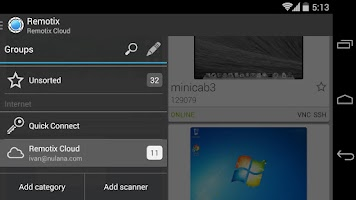 Screenshot of Remotix VNC RDP Lite