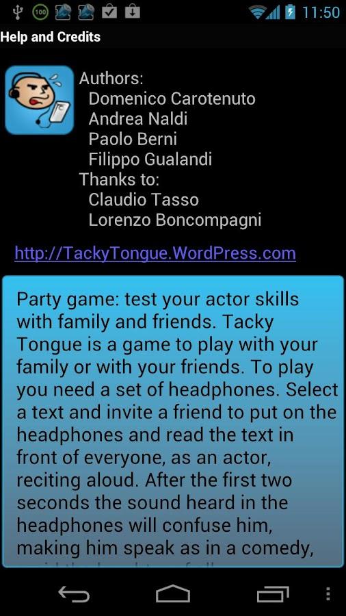 Tacky Tongue: actor skill- screenshot