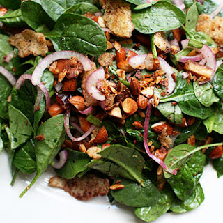 Baby Spinach Salad with Dates & Almonds.