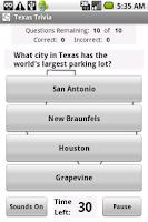 Screenshot of States Trivia - Texas