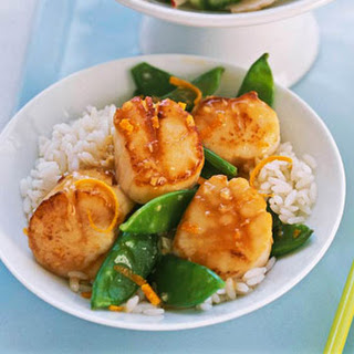 Scallops & Snow Pea Stir-fry