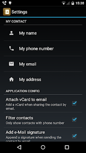 Contactos PRO (share contacts) - screenshot thumbnail