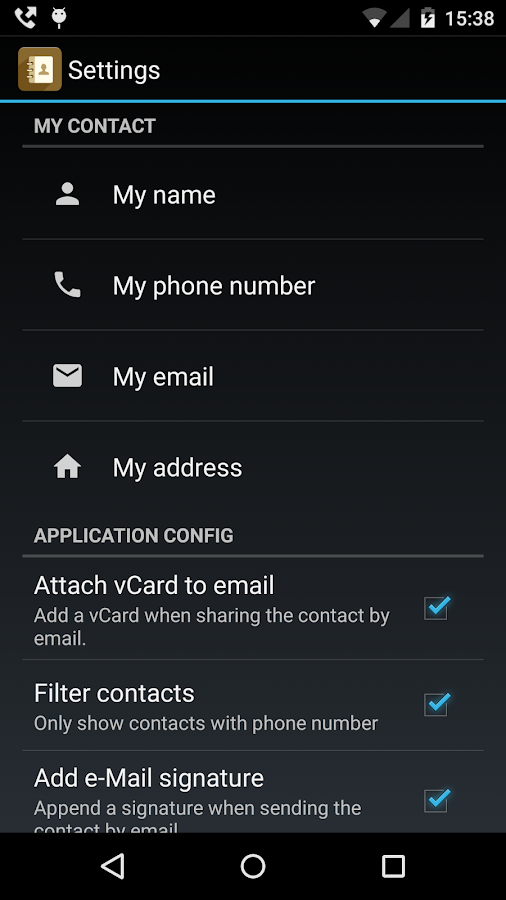Contactos PRO (share contacts) - screenshot