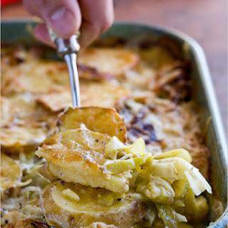 Potato and Leek Gratin with Cumin