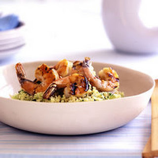 Couscous Salad with Grilled Shrimp Scampi.