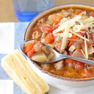 Italian Cabbage and Celeriac Soup