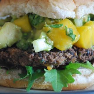 Black Bean Burger with Mango Salsa
