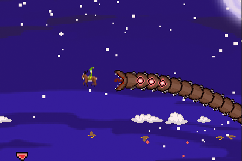 Super Mega Worm Vs Santa Saga apk screenshot
